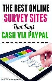 Money Making Online Surveys - the best online surveys that pays cash via paypal paid online
