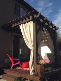 Outdoor Patio Curtains Canada Decorations Outdoor Curtains Touch Of Class With Stripe Outdoor