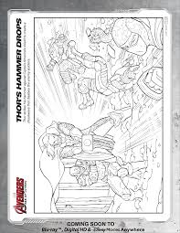 avengers thor u0027s hammer coloring page disney movies