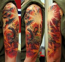 wonderful tree and on half sleeve by andrey barkov