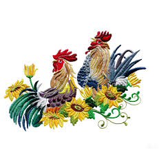 design embroidery rise and shine roosters embroidery design collection