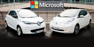 nissan renault renault nissan alliance to partner with microsoft on connected car