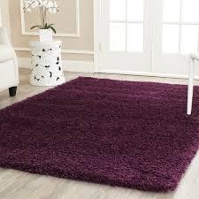 4 X 6 Bathroom Rugs Safavieh Cozy Solid Purple Shag Rug 8 X 10 Overstock