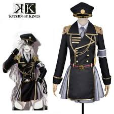 military halloween costume k project return of kings neko cosplay costume black and silver
