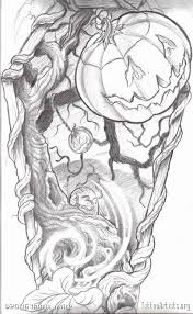 cat halloween pumpkin tattoo design real photo pictures images