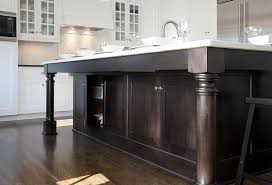 kitchen island leg stained kitchen island design ideas