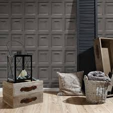 Feature Wall by Grey Wallpaper Patterned Designs Designs Feature Wall Decor New Ebay