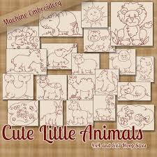 stitchx embroidery cute little animals machine embroidery designs redwork jpg