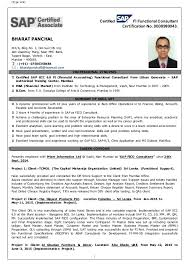 Sap Resume Examples by Appealing Sap Fico Resume Sample Pdf 92 With Additional Easy