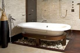 Mosaic Bathroom Floor Tile Ideas Create A Modern Looking Bathroom By Mixing Different Shapes Of