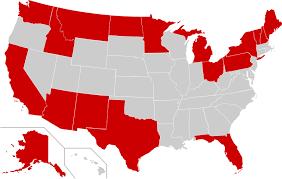 map us states bordering canada international border states of the united states