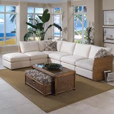 Living Room With Sectional Furniture Interesting Living Room Design With White Havertys