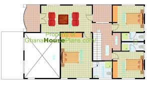 five bedroom floor plans 5 bedroom one storey single family house plan in accra