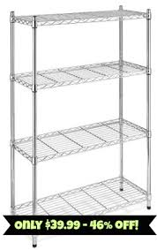 4 Tier Shelving Unit by Whitmor 4 Tier Shelving Unit 39 99 Amazon 46 Off Free
