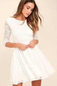 white lace dress lovely white dress lace dress skater dress 68 00