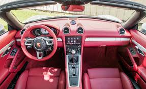 porsche boxster interior 2017 porsche 718 boxster cars exclusive videos and photos updates