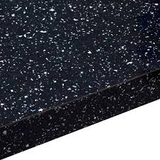 38mm astral black gloss black gloss square edge breakfast bar l