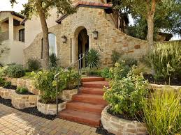 front of a charming santa barbara style home in gated community of