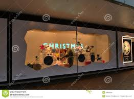 Christmas Window Decorations by John Lewis Christmas Window Decoration Editorial Image Image