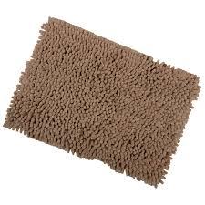 shaggy microfibre bathroom shower bath mat rug non slip backing