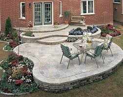 exterior extraordinary backyard decoration using paver patio step