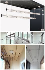 100 ceiling clothes rail wall mounted clothes rack coat