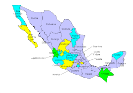map of mexico with states mexico state map