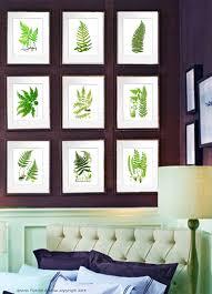 Vintage Reproduction Home Decor House Staging Idea Fern Garden Botanical Prints Set Of 9