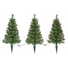 3pk 2ft prelit artificial pathway trees alberta spruce