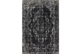 White And Black Area Rug 94x132 Rug Kyrin Black Living Spaces
