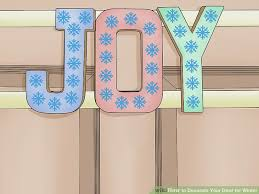 Door Decorations For Winter - 3 ways to decorate your door for winter wikihow