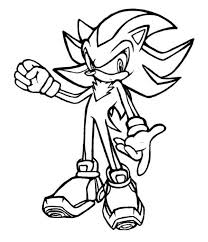 sonic shadow coloring pages coloring