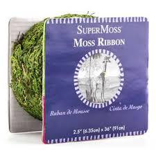 moss ribbon fresh green moss ribbon 2 1 2 hobby lobby 666404