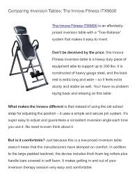 innova heavy duty inversion table comparing inversion tables the innova fitness itx9600