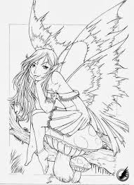 fairy coloring pages adults printable