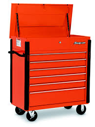 snap on tool storage cabinets 6 drawer roll cart electric orange