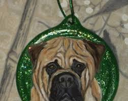 bullmastiff ornament etsy