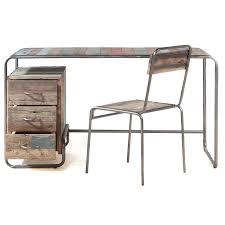 bureau bois de bureau bois et fer bureau chene et blanc lepolyglotte