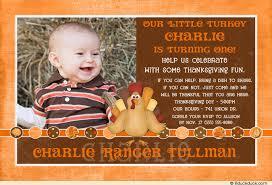 our turkey photo invitation fall thanksgiving birthday