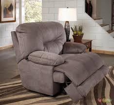 slate gray lay flat cuddler recliner oversized reclining chair