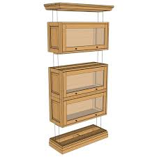 Woodworking Plans Bookcase Cabinet by 33 Build A Barrister Bookcase Barrister Bookcase Plans