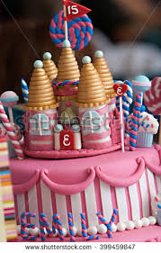 candyland birthday cake fancy birthday cake candyland theme three stock photo 399459847