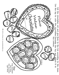 valentine math place values activity sheet printables kids