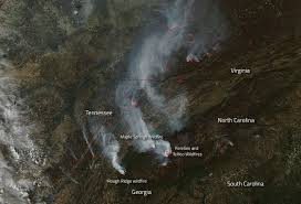 Southeast Us Road Map Wildfires Abound In U S Southern States Nasa
