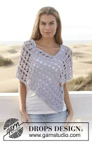 drops design poncho atardecer drops 153 11 free crochet patterns by drops design
