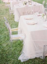 how to use tulle to decorate a table malibu wedding from beth helmstetter steve stein tulle table