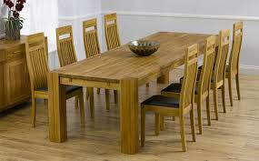 oak dining room sets oak dining table with eight seater home furniture ideas
