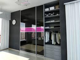 Sliding Glass Closet Door Bedroom Sliding Glass Closet Door In Black And Pink Color