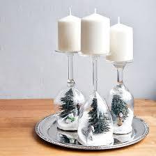 porta candele portacandele natalizi con bicchieri di vetro fai da te 20 idee