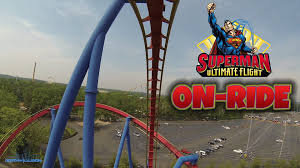 Six Flags Rides New Jersey Superman Ultimate Flight On Ride Front Seat Hd Pov Six Flags